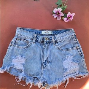 3 for 35❗️ hollister high rise denim shorts